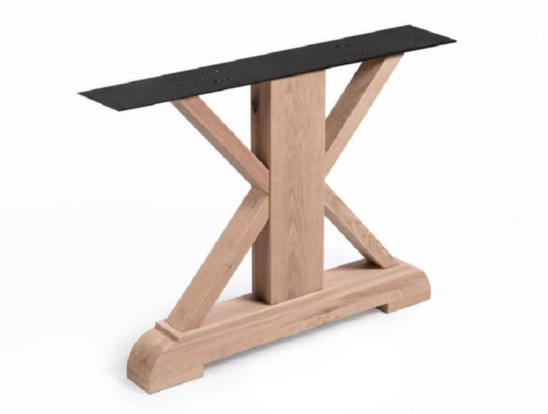 Kloosterpoot hout tafel