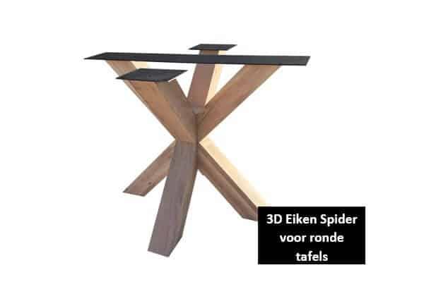 3D Eiken Spider voor ronde tafels