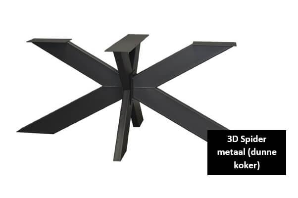 3D Spider metaal dunne koker 15x5cm