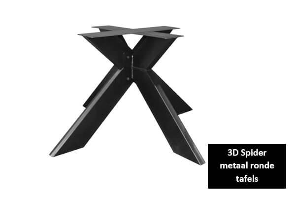 3D Spider metaal ronde tafels