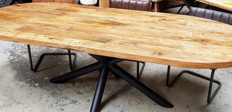 Elmwood ovaal tafelblad