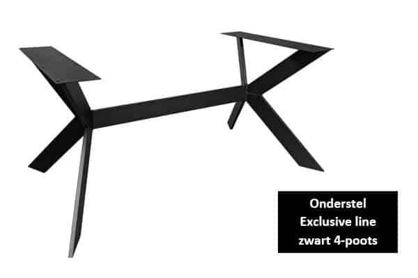 Onderstel exclusive line zwart 4-poots