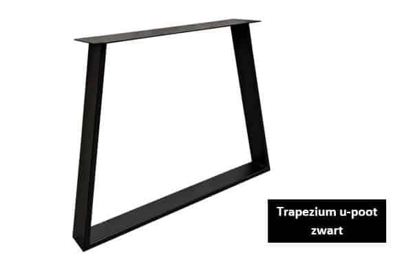 Trapezium u-poot zwart