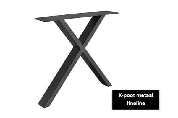 X poot metaal x-frame fineline