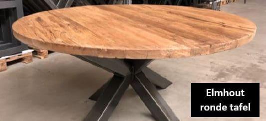 Elmhout ronde tafels