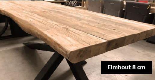 Elmwood 8 cm tafelblad elmhout