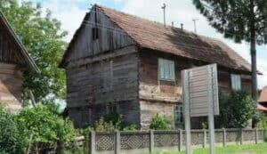 Oude boerderij hout planken oud eiken doorleefd