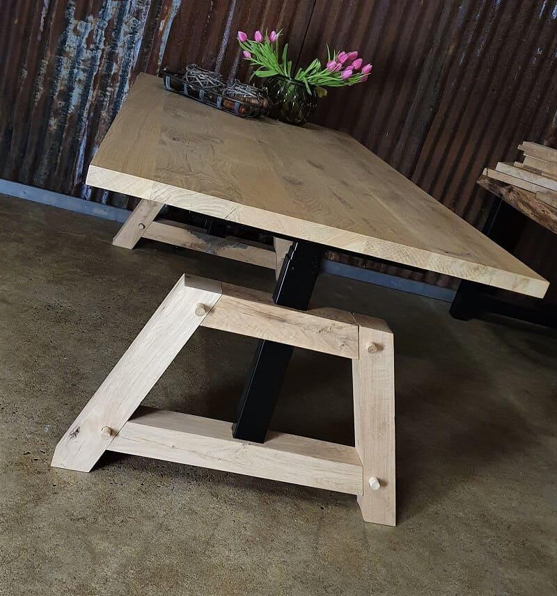 Hoog laag tafel - thuiswerkplek eiken