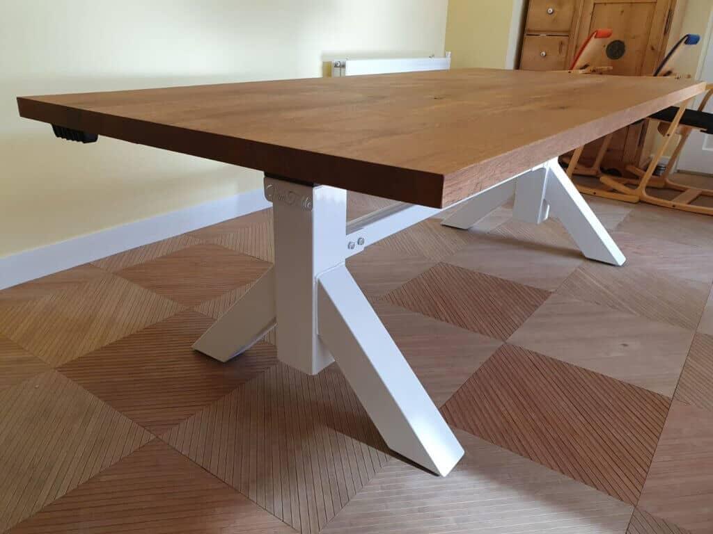 Zit-sta tafel wit onderstel elektrisch verstelbaar